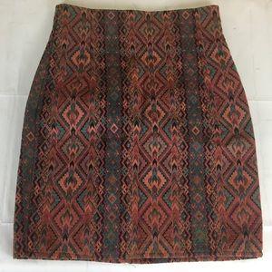 Vintage high rise pencil skirt